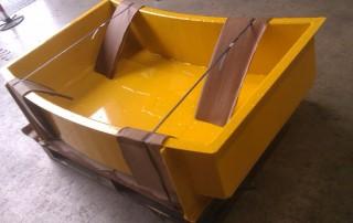 Bespoke Fabricated Curved Rubble Skip