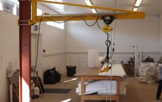 Column Mounted Manual Slew Swing Jib Crane