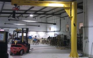 Free Standing Under Braced Manual Slew Swing Jib Crane