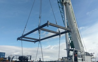 Proof-load test, spreader type lifting frame - SWL 27t / 16t